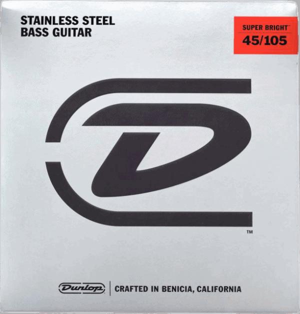 Dunlop Super Brights Stainless Steel 4 String (45-105)