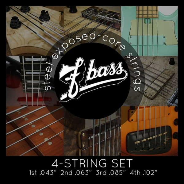F Bass Stainless Exposed Core 4-strings (43-102)