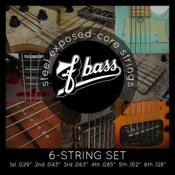 F Bass Stainless Exposed Core 6-strings (29-128)