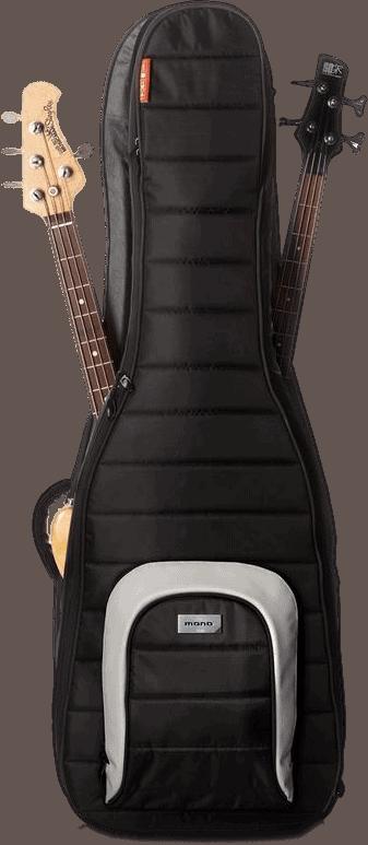 Mono Classic Dual Bass Guitar Case, Black