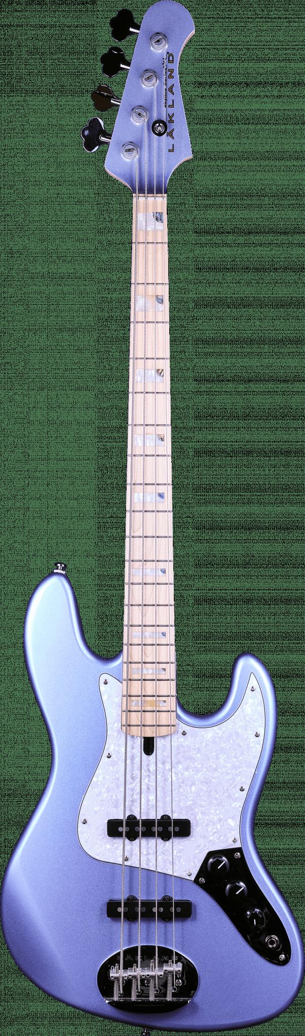 Lakland Skyline 44-60 Jazz Custom Ice Blue Metallic